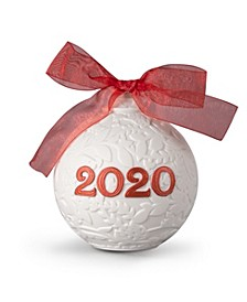 Lladro Collectible Figurine, 2020 Red Christmas Ball
