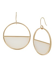 Gold-Tone Inlay Geometric Drop Earrings