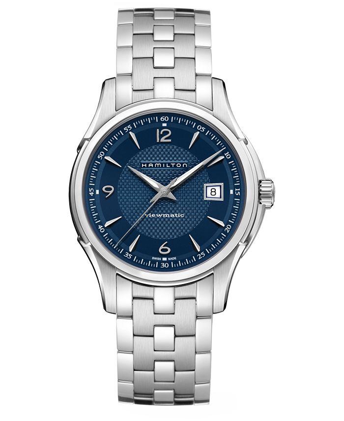 Hamilton - Men's Swiss Automatic Jazzmaster Viewmatic Stainless Steel Bracelet Watch 40mm