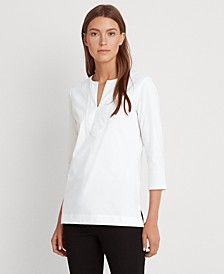 Jersey Elbow-Sleeve Top
