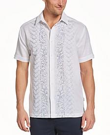 Men's Geo Floral Panel Shirt