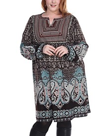 Women's Plus Size Phebe Embroidered Sweater Dress