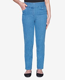 Pull On Back Elastic Proportioned Allure Superstretch Denim Jean