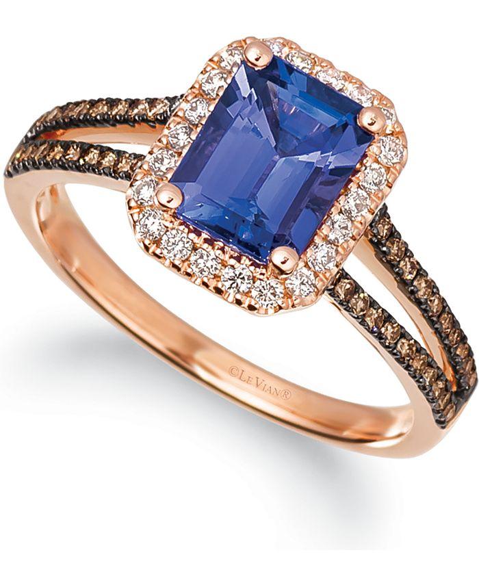 Le Vian - Blueberry Tanzanite (1-1/2 ct. t.w.) & Diamond (1/3 ct. t.w.) in 14k Rose Gold