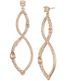Gold-Tone Crystal Twist Chandelier Earrings