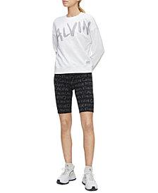Calvin Klein Performance Brush-Logo High-Waist Bike Shorts