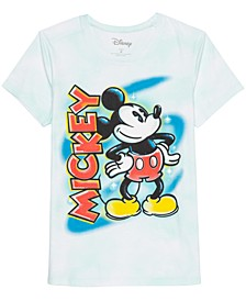 Juniors' Mickey Mouse Tie-Dyed T-Shirt