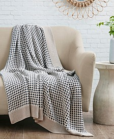 Reed Knit Cotton Throw