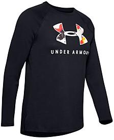 Women's Printed-Logo Long-Sleeve T-Shirt