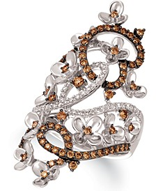 Crazy Collection® Diamond Fancy Scroll Floral Ring (1-1/6 ct. t.w.) in 14k Rose, Yellow or White Gold