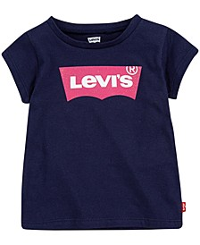 Baby Girls Cotton Batwing-Logo T-Shirt