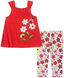 Toddler Girls 2-Pc. Ladybug Tunic & Printed Leggings Set