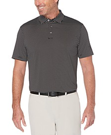 Men's Big & Tall Feeder-Stripe Golf Polo