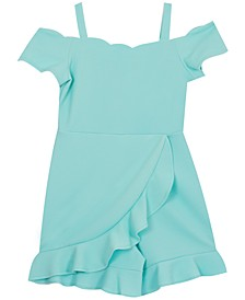 Big Girls Wrap-Front Ruffle Romper