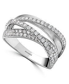EFFY® Diamond Crossover Statement Ring (5/8 ct. t.w.) in 14k White Gold