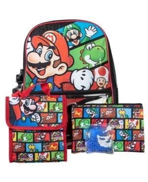 Bioworld Mario Backpack, 5 Piece Set