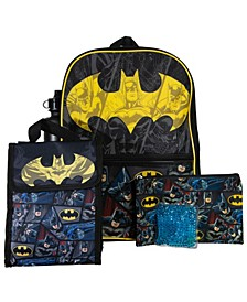 Batman Backpack, 5 Piece Set