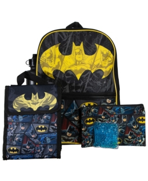 Bioworld Batman Backpack, 5 Piece Set