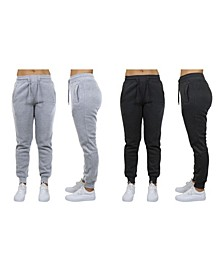 Women's Loose Fit Fleece Jogger Sweatpants, Pack of 2