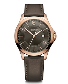 Men's Alliance, Grey Leather Strap, 40mm