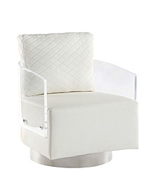 Ciara Acrylic Back Swiveling Accent Chair