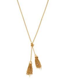 Tassel Gold-Tone Y Necklace