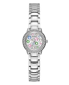 Silver-Tone Petite Crystal Watch 25mm