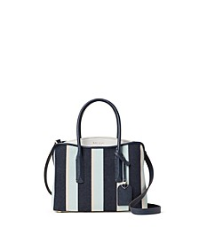 Margaux Small Canvas Stripe Satchel
