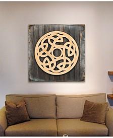 Celtic Spiral Wood Box Sign