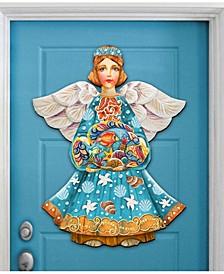 Guardian of The Sea Angel Christmas Door Hanger
