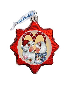 So Much in Love Hand Painted Glass Ornament