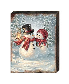 by Dona Gelsinger Snow Much in Love Wooden Block