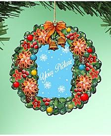 Wreath Picture Ornament Set of 2