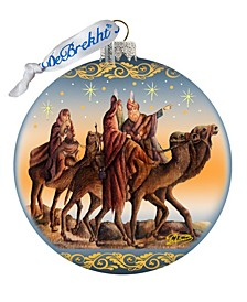 Nostalgic Tree Kings Journey Limited Edition Hand Painted Glass Ornament