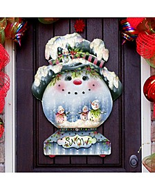 Jamie Mills Price Christmas Joe Cool Snow Globe Door Hanger