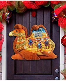 Camel Three Kings Nativity Christmas Door Hanger