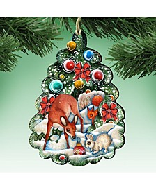 Forest Christmas Tree Ornament Set of 2