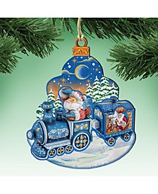 Christmas Train Wooden Ornament, Set of 2
