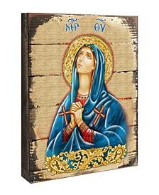 "Icon Maria Magdalena Wall Art on Wood 16"""