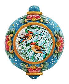 Hand Painted Scenic Ornament Cardinal Companions