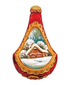 Hand Painted Scenic Ornament Enchanted Cottage