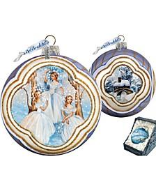 Nutcracker Fairy Ball Hand Painted Glass Ornament