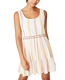 Woven Bronwyn Sleeveless Tiered Mini Dress