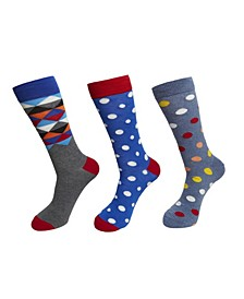 3-Pack Triangle Top Socks