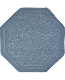 "Wellington Octagon 6"" L X 6"" W Bath Rug"