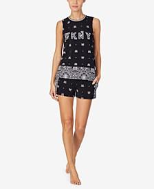 Women's Tank Top & Shorts Pajama Set