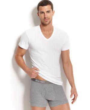 2(X)IST 2(X)Ist Men'S Essential 3 Pack Slim Fit T-Shirt in White