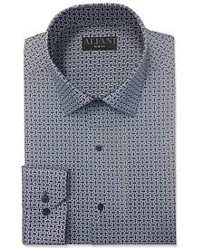Men's Slim-Fit Octagon-Tile-Print Dress Shirt, Created for Macy's