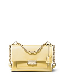 Cece Polished Leather Chain Small Shoulder Bag