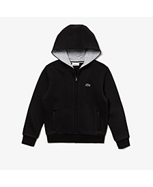 Big Boys Sport Long Sleeve Full-Zip Fleece Hoodie